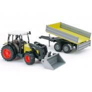 Playset Tractor With Fork And Trailer 01998 BRUDER Original