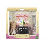 CAT SISTER With Oven Set And Pots SYLVANIAN FAMILIES 5140 Epoch