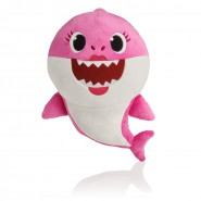 PLUSH Soft Toy 25cm MUMMY SHARK PINK from BABY SHARK With Music Of The Famous Song From Cartoon Original