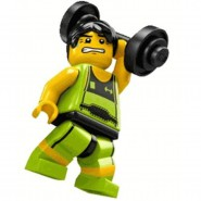 LEGO Minifigures SERIE 2 8684 Number 10 WEIGHT LIFTER Sealed Sachet New