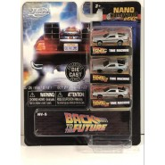BACK TO THE FUTURE Set 3 Different Mini Models CAR 4cm DeLorean 1 2 3 NANO Blister NV-5 Jada