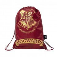 HARRY POTTER Red GYM BAG Sack HOGWARTS 23x17cm Official WARNER BROS