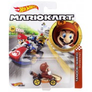DieCast Model Car MARIO TANOOKI Standard KART From SUPER MARIO Scale 1:64 5cm Hot Wheels