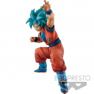 Super Saiyan GOD GOKU Big Size Figure KING CLUSTAR 24cm DRAGON BALL Super Original BANPRESTO