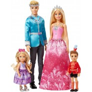 BARBIE Dreamtopia Family Royal Gems Reign 4 Characters Original MATTEL FPL90