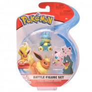 POKEMON Box 3 FIGURES Flareon + Munchlax + Jigglypuff Original WCT Battle Figure Set