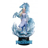 DIORAMA Statue from Frozen 2 ELSA 10cm Original DISNEY Beast Kingdom D-Select 038