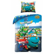 BED SET Duvet Cover SUPER WINGS Mission Teams 4 Main Characters Submarine Willy Duvet Cover 140x200 COTTON