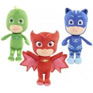 COMPLETE SET 3 Plushies 22cm Characters PJ MASKS Connor + Amaya + Greg