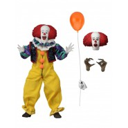 Action Figure PENNYWISE 20cm from movie IT 1990 Retro Stephen King Clown 2 Faces ad a Balloon NECA Original
