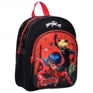 BACKPACK With Pocket MARINETTE and CAT NOIR Miraculous Ladybug SMALL 31x25x9cm ORIGINAL