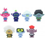 TROLLS WORLD TOUR Complete Set 7 Mini CHARACTERS 4cm ORIGINAL Puzzle Palz Eraser DREAMWORKS