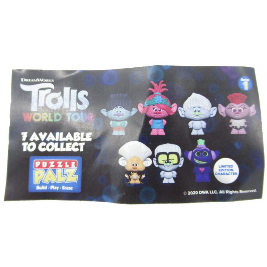 TROLLS WORLS TOUR 4 Figures 4cm Collection Original Puzzle Palz Eraser DreamWorks