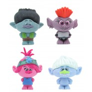 TROLLS WORLD TOUR Lot 4 Mini CHARACTERS 4cm POPPY BRANCH GUY and REGINA Puzzle Eraser