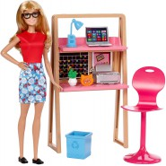 BARBIE Office Playset LAPTOP Doll and many Extra Original Mattel DVX52