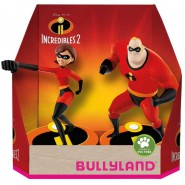 THE INCREDIBLES Box 2 Figures 10cm MR INCREDIBLE and ELASTICGIRL Original BULLYLAND