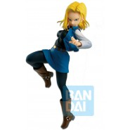 DRAGONBALL Figure Statue 17cm ANDROID 18 Android BATTLE Original BANDAI Banpresto