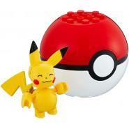 Pokemon PIKACHU with POKEBALL Mini Figure BLOKS Original MEGA CONSTRUX