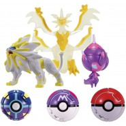 POKEMON Set 3 Mini Figures 6cm and 3 Pokeball Pokedel-Z Ultra Set DX Pocket Monsters Moncolle EX Tomy GIAPPONE
