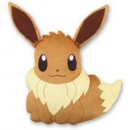 EEVEE Evoli Fox CUSHION PILLOW Plush BIG 35x35cm Rare ORIGINAL Pokemon BANPRESTO Japan