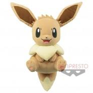 EEVEE Evoli Fox PLUSH BIG 32cm Sitting RELAX ORIGINAL Pokemon BANPRESTO Japan