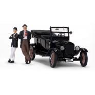 Model Car 1925 FORD Model T 14cm and 2 Figures STAN LAUREL E OLIVER HARDY 6cm Scala 1/24 ORIGINAL Official Sun Star