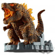GODZILLA Figure With Fire 11cm DEFORMATION KING 2019 Original Monsterverse Bandai From Godzilla 2