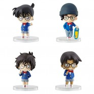 Detective CONAN Set 4 Mini FIGURES Collectionable 5cm Original BANDAI Gashapon