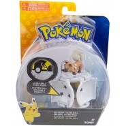Pokemon ROCKRUFF Figure 4cm + ULTRA POKE BALL POP-UP Original TOMY PokeBall