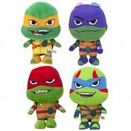 Complete Set 4 PELUCHE 26cm From Teenage Mutant Turtles Ninja Leonardo Raffaello Michelangelo Donatello Play By Play