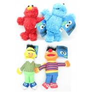 COMPLETE SET 4 Plush Plushies 26cm SESAME STREET Bert Ernie Elmo Cookie Monster Furry ORIGINAL Muppets