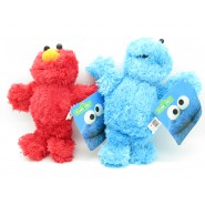PAIR 2 Plush Plushies 30cm SESAME STREET Elmo Cookie Monster Furry ORIGINAL Muppets