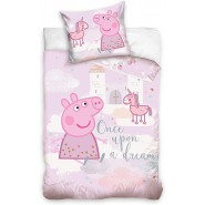 BABY BED SET Cotton Duvet Cover PEPPA PIG Unicorn Once Upon a Dream 100x135cm ORIGINAL