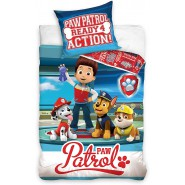 PAW PATROL Bed Set Ready 4 Action 2 Pieces DUVET COVER 140x200cm and pillow case 70x90cm Cotton ORIGINAL Official Nickelodeon