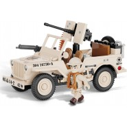 Playset  Military Vehicle JEEP WILLYS with TRAILER Small Army COBI 24193
