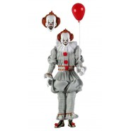 Action Figure PENNYWISE from movie IT 2017 Love Derry Stephen King Clown With Red Balloon NECA 45473