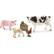 FARM LIFE Animals and extras SCHLEICH 41424 Cow Bee Pig Chicken