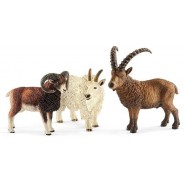 WILD LIFE Box 3 MOUNTAIN Animals SCHLEICH 41459 Goat Ibex Rock Goat
