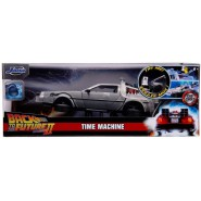 BACK TO THE FUTURE Part 2 Die Cast Model with LED Flying Mode Car DeLOREAN Scale 1/24 20cm Jada Toys Time Machine