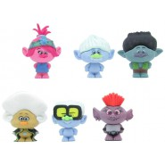 TROLLS WORLD TOUR Set 6 Mini CHARACTERS 4cm ORIGINAL Puzzle Palz Eraser DREAMWORKS