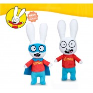COUPLE 2 Plushies 28cm SIMON THE RABBIT Normal and SuperHero ORIGINAL Official