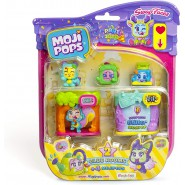 MOJI POPS Blister 4 Figures and 2 CLUB ROOMS Party Serie ORIGINAL Swap Faces