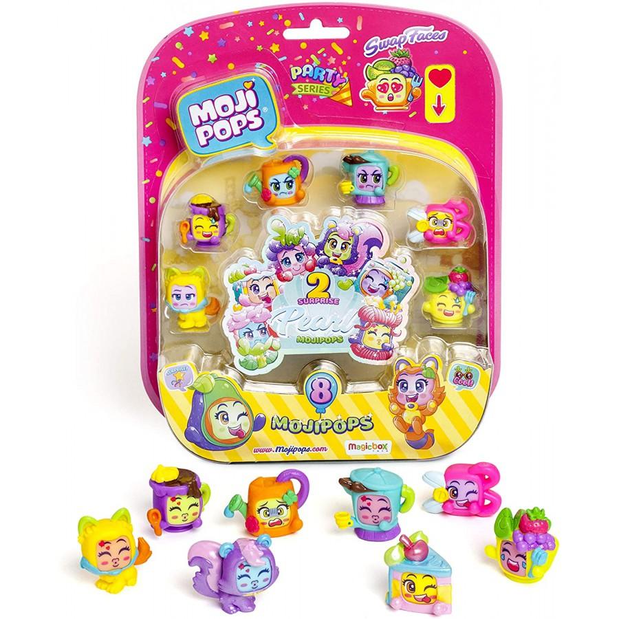 MOJI POPS Blister 8 Figure Special PEARL Party Serie ORIGINALE Magic Box