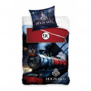 CASTLE OF HOGWARTS Bed Set HARRY POTTER 2 Pieces DUVET COVER 140x200cm and Pillow Case 50x75cm Cotton ORIGINAL Official