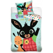 BED SET 160x200cm BING and FLOP Greeting Pillow Case 70x80cm 100% Cotton Original
