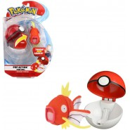 Pokemon MAGIKARP Plush 10cm + POKE BALL POP ACTION Original WCTPokeBall