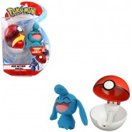 Pokemon WYNAUT Plush 10cm + POKE BALL POP ACTION Original WCTPokeBall