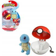 Pokemon SQUIRTLE Plush 10cm + POKE BALL POP ACTION Original WCT PokeBall