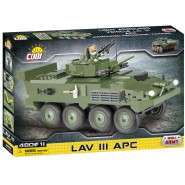 Playset Armored Vehicle Tank LAV III APC Original COBI 2609 Building Blocks