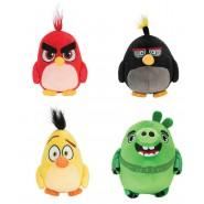 COMPLETE SET 4 Plush ANGRY BIRDS 12cm Characters RED, CHUCK, BOMB, LEONARD Original ROVIO Jazwares